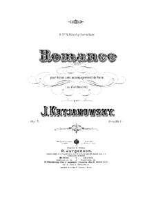 Romance for Violin and Piano, Op.5: partitura by Ivan Kryzhanovsky