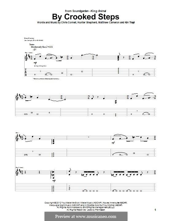 By Crooked Steps (Soundgarden): Para guitarra com guia by Hunter Benedict Shepherd, Chris Cornell, Kim Thayil, Matt Cameron