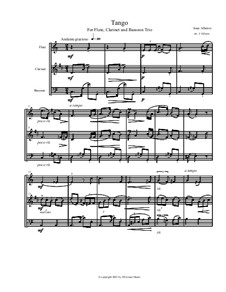 No.2 Tango: For flute, clarinet and bassoon by Isaac Albéniz