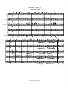 No.8 Furiant: For woodwind quintet by Antonín Dvořák
