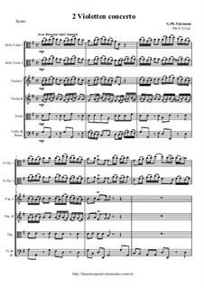 Concerto for Two Violas, Strings and Continuo in G Major, TWV 52:G3: Concerto for Two Violas, Strings and Continuo in G Major by Georg Philipp Telemann
