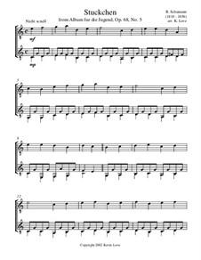 No.5 Stückchen (Little Piece): para duas guitarras by Robert Schumann