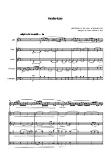 Vocalise-étude: For oboe, two violins, cello and double bass by Gabriel Fauré