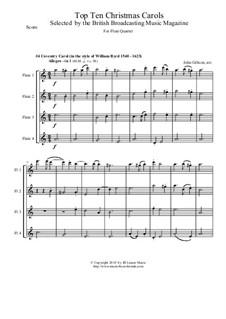 Coventry Carol: para quarteto de flauta by folklore