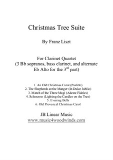 Christmas Tree, S.186: No.1, 3-5, 8, 9, for clarinet quartet by Franz Liszt