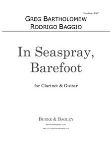 In Seaspray, Barefoot: para clarinete e guitarra by Greg Bartholomew