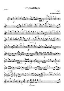 Original Rags: partes - para quarteto de cordas by Scott Joplin