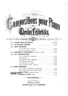 Two Pieces, Op.35: No.1 Le bal d'hier by Theodor Leschetizky