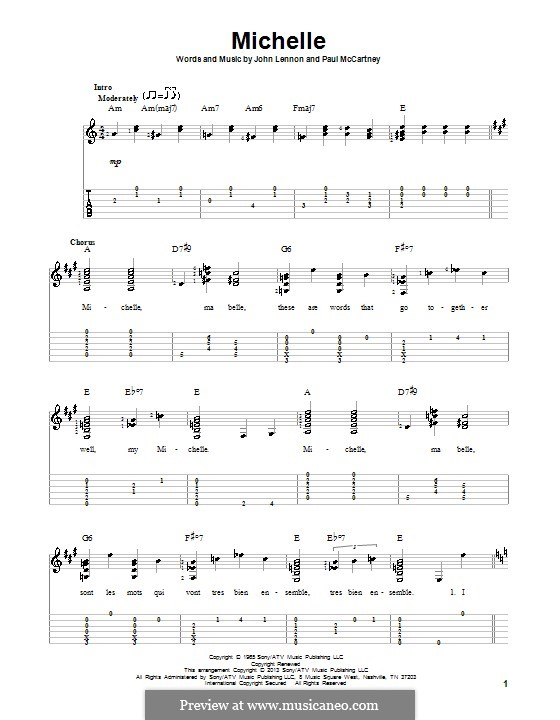 Michelle (The Beatles): Para guitarra com guia by John Lennon, Paul McCartney