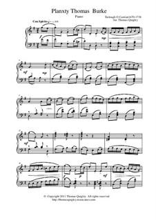 Planxty Thomas Burke: Para piano solo by Turlough O'Carolan