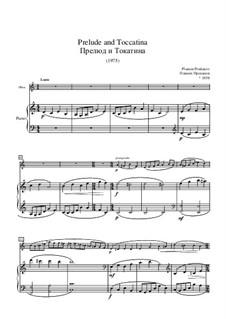Prelude and Toccatina for Oboe and Piano: partitura by Plamen Prodanov