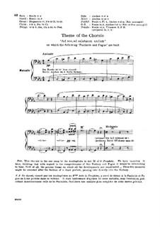 Fantasia and Fugue on Chorale 'Ad nos, ad salutarem undam', S.259: para orgãos by Franz Liszt