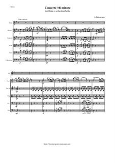 Concerto for Flute and String Orchestra in E Minor: Concerto for Flute and String Orchestra in E Minor by Saverio Mercadante