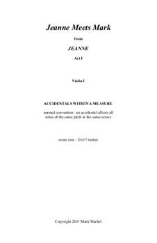 Jeanne: Jeanne Meets Mark – violin I part by Mark Warhol