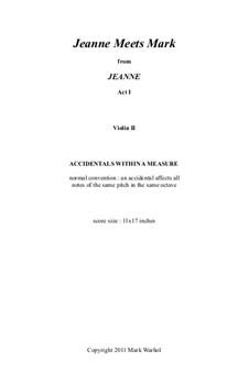 Jeanne: Jeanne Meets Mark – violin II part by Mark Warhol