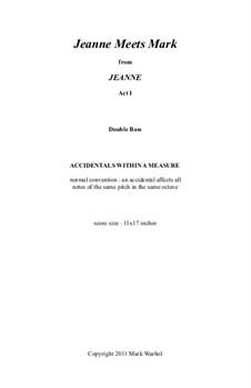 Jeanne: Jeanne Meets Mark – double bass part by Mark Warhol
