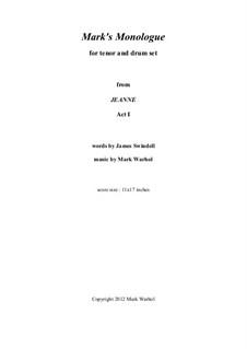 Jeanne: Mark's Monologue – score by Mark Warhol