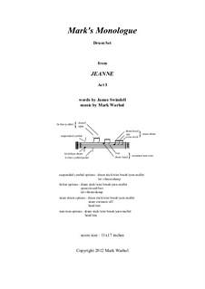 Jeanne: Mark's Monologue – drum set part by Mark Warhol