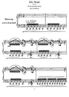 No.11 Die Stadt (The City): Para Piano, S.560 No.1 by Franz Schubert