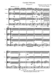 O'Carolan's Welcome: para quartetos de cordas by Turlough O'Carolan