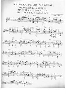 Two pieces 'Mazurka from Paraguay' and 'Serenade': Para Guitarra by Isaac Albéniz, Federico Chueca