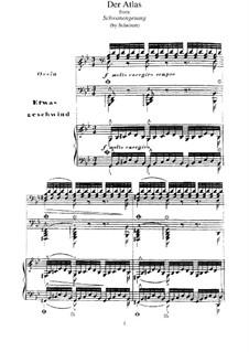 No.8 Der Atlas (Atlas): Para Piano, S.560 No.11 by Franz Schubert