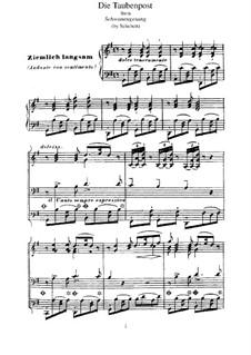 No.14 Die Taubenpost (The Pigeon Post): Para Piano, S.560 No.13 by Franz Schubert