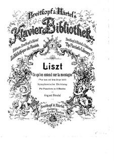 Symphonic Poem No.1 'Ce qu'on entend sur la montagne' for Orchestra, S.95: versão para piano by Franz Liszt