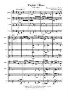 Captain O Kane: para quartetos de cordas by Turlough O'Carolan