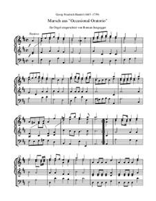 The Occasional Oratorio, HWV 62: Marsch (Orgel-Transkription) by Georg Friedrich Händel
