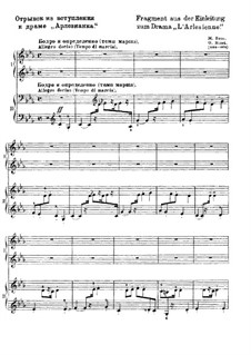 Suite I: Overture, for piano four hands (Fragment) by Georges Bizet