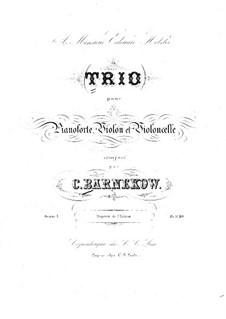 Piano Trio in F Sharp Minor, Op.1: Partitura completa by Christian Barnekow