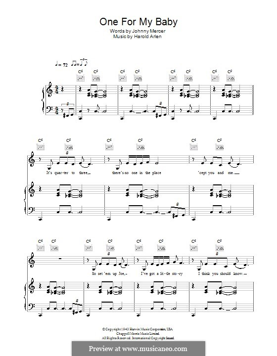 One for My Baby (And One More for the Road): Para vocais e piano (ou Guitarra) by Harold Arlen