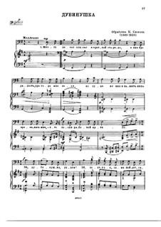 Dubinushka: Para vocais e piano by folklore
