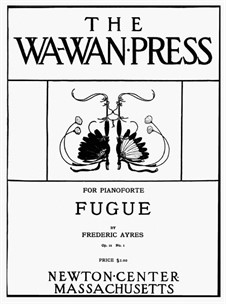Fugue, Op.12 No.1: fuga by Frederic Ayres