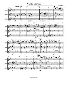 A Little Interlude: partitura by Judith Katz
