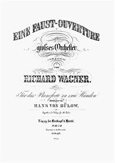The Faust Overture, WWV 59: Para Piano by Richard Wagner