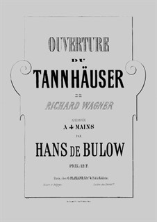 Fragments: Overture, for piano four hands – parts by Richard Wagner