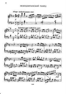 No.22 Danse napolitaine: Para Piano by Pyotr Tchaikovsky