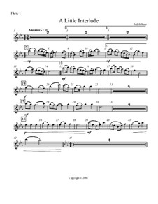 A Little Interlude: partes by Judith Katz