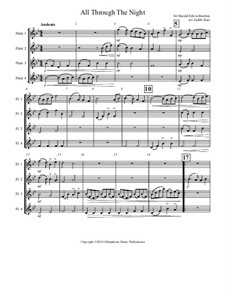 All Through the Night: For four flutes by folklore