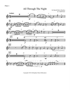 All Through the Night: For four flutes – parts by folklore