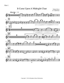 It Came upon the Midnight Clear: For flute quartet – parts by Richard Storrs Willis