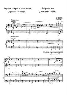 Fragments: para piano de quadro mãos by Richard Wagner