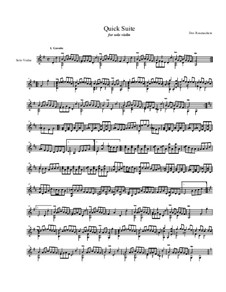 Quick Suite, Op.18: Complete suite, for solo violin by Dov Rosenschein