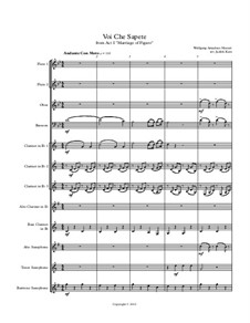 Voi, che sapete: For wind ensemble by Wolfgang Amadeus Mozart