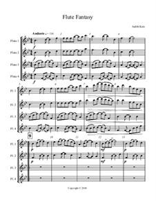 Flute Fantasy: partitura by Judith Katz