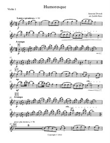 Humoresque - for string quartet: partes by Antonín Dvořák