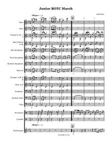 Junior R.O.T.C. March: partitura by Judith Katz