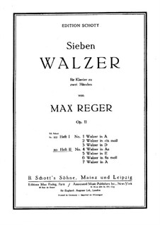 Seven Waltzes for Piano, Op.11: Waltzes No.4-7 by Max Reger